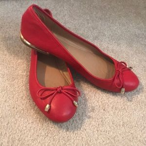 Red Aldo ballet flats
